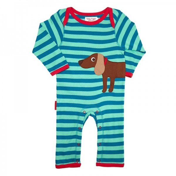 Toby Tiger Boys Sausage Dog Sleepsuit