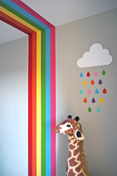Rainbow theme nursery design inspiration