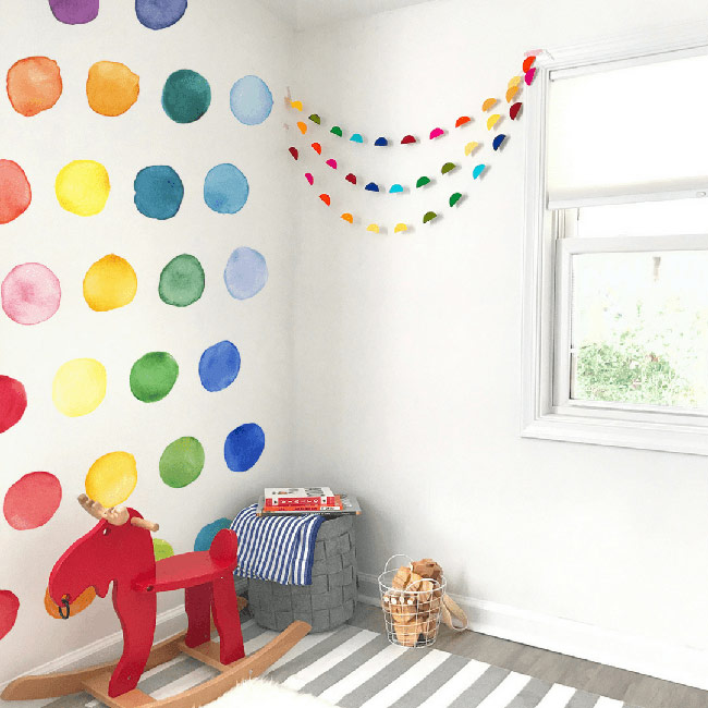 Rainbow nursery design decor