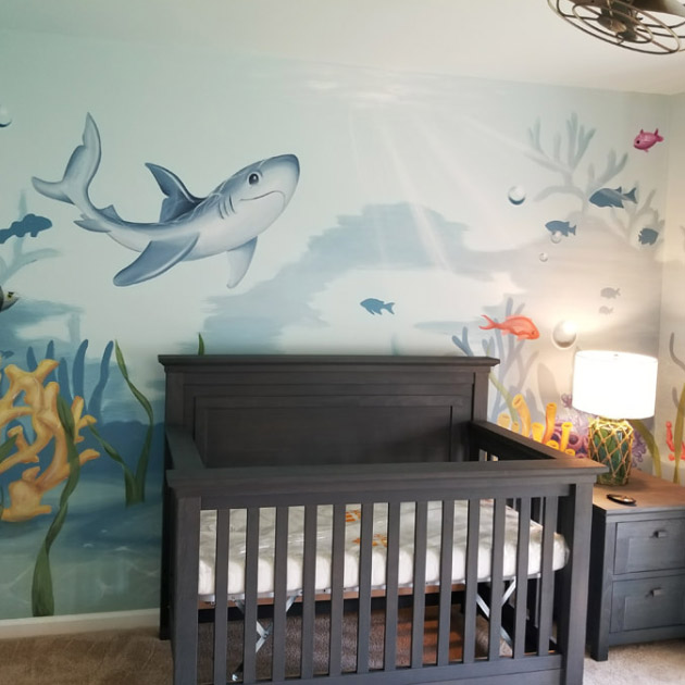 Under the Sea nursery decor 1