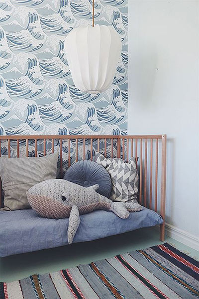 Seaside theme baby nursery decoration